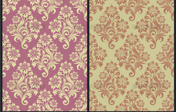 Vector-seamless-floral-wallpaper