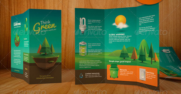 Modern Retro Brochure Layout Design Template Annual Report Flyer