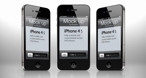 iphone 4s mockup psd editable 3d template 12 Free iPhone, iPad, iMac PSD Mockup
