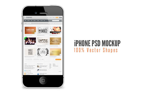 iphone slide1a 12 Free iPhone, iPad, iMac PSD Mockup