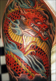Dragon tattoo on hand