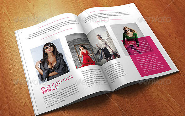 12 Pages A4 Size Fashion Magazine Templates