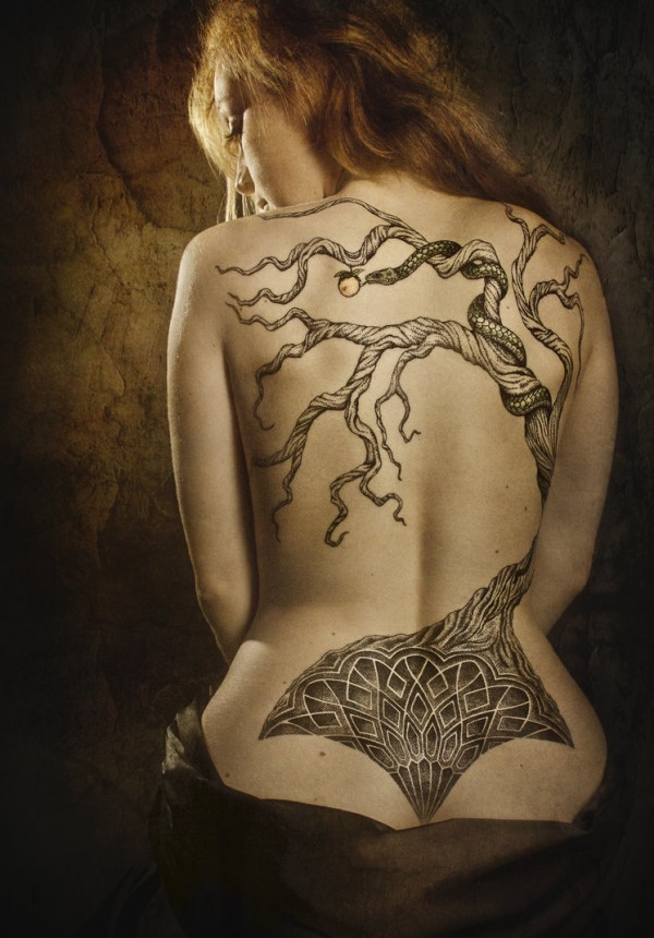 tree tattoo on back