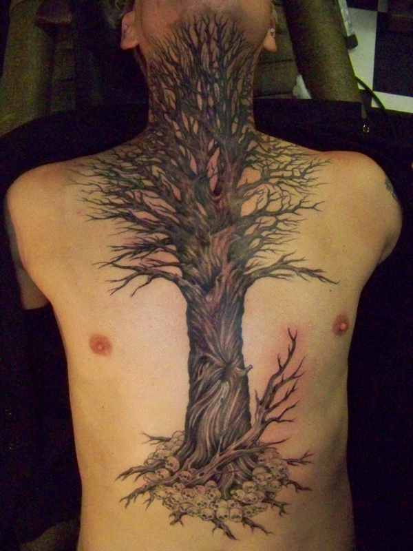 Giant tree tattoo