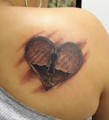 Heart tattoo on back