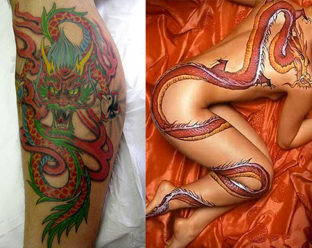 Amazing dragon tattoo