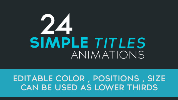 24 Simple Title Animations