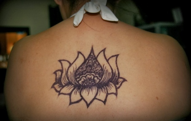 lotus flower on back