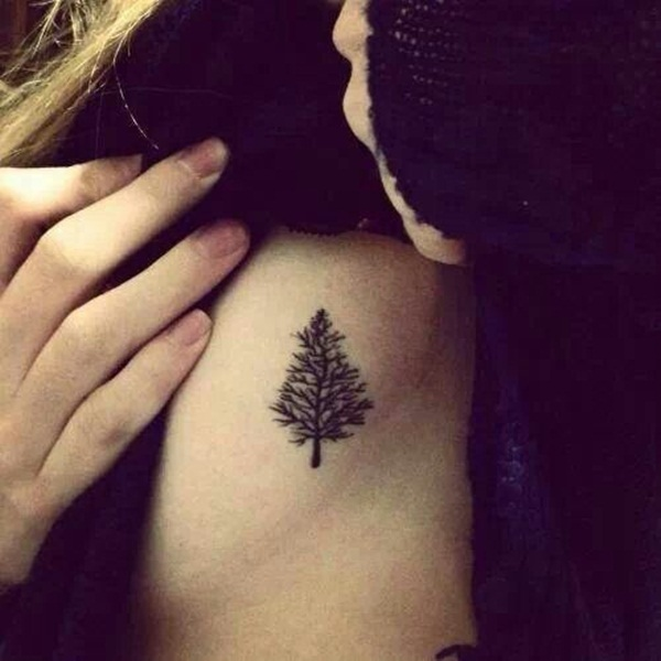tree tattoo on body