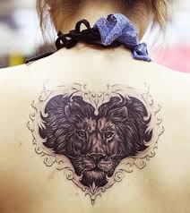 lion tattooon back