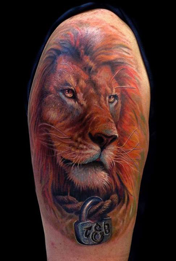 3D lion tattoo