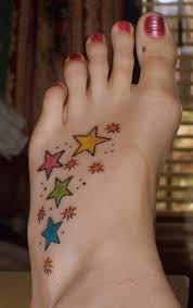 Star tattoo on foot