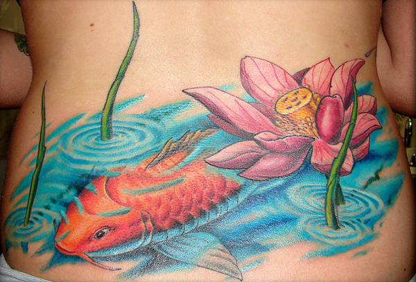 lotus flower on lower body