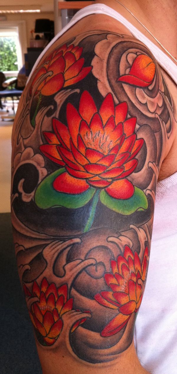 lotus flower on arm