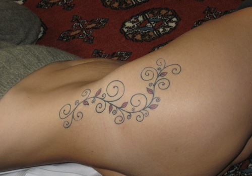 Tattoo on hip