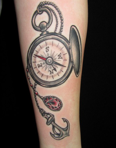 40 awesome compass tattoos desiznworld for Bussola tattoo significato
