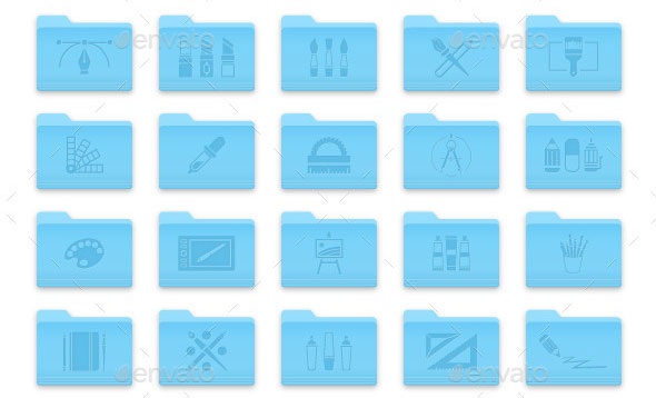 Art-and-Design-Folder-Icons-Set-1