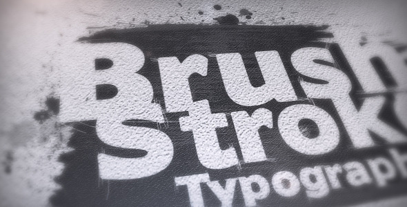 Brush Stroke Typography