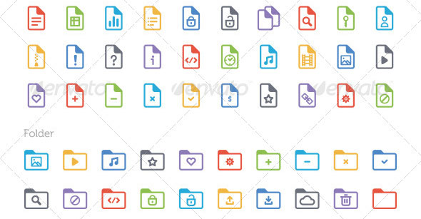 Document-and-Folder-Icon-Set