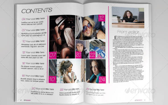 Fashion Magazine Template 05