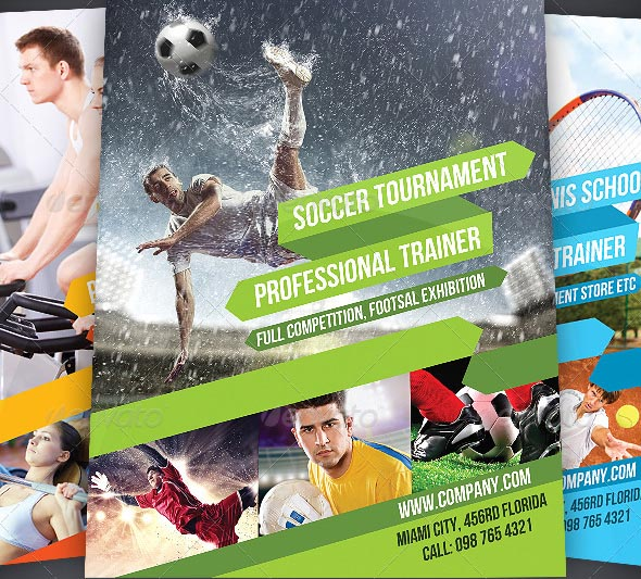 Fitness And Sport Flyer Volume 1