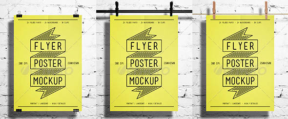 55 Beautiful Poster Mockup Templates Psd Desiznworld