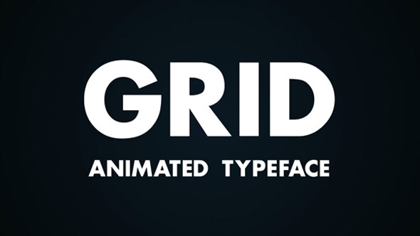GRID Animated Typeface