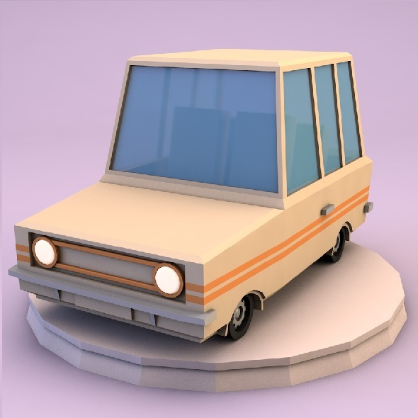 Low poly family car