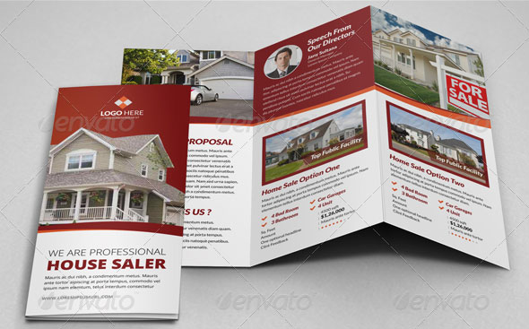 Sales Brochure Template Property Sale Trifold Brochure Template V