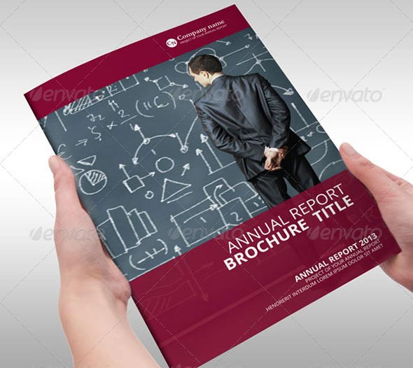 Red Annual Report Brochure Indesign Template