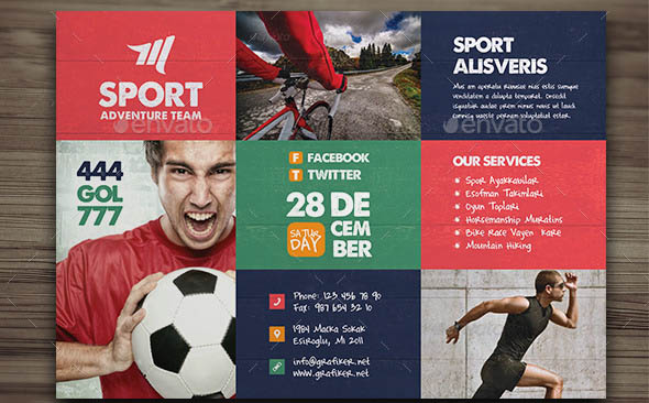 Beautiful Sport Flyers Psd Templates  Desiznworld