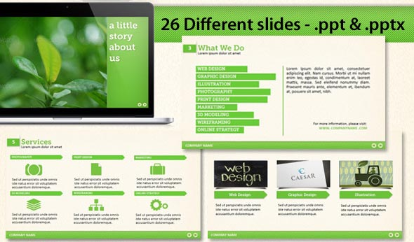 Stay Green Powerpoint Template