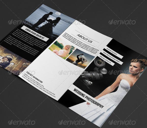 20 beautiful wedding brochure templates desiznworld for Photography brochure templates free
