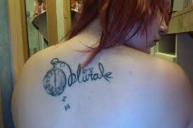 Harry potter tattoo on back
