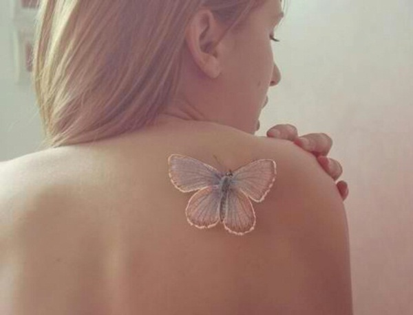 Butterfly on back