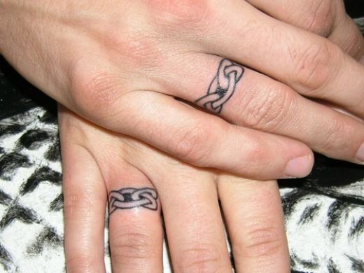 Finger ring tattoo