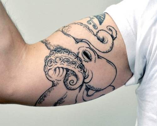 Octopus tattoo on arm