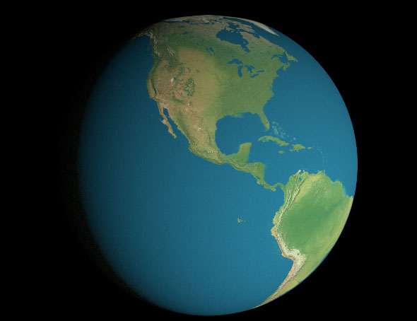 16K Earth Geographical Model
