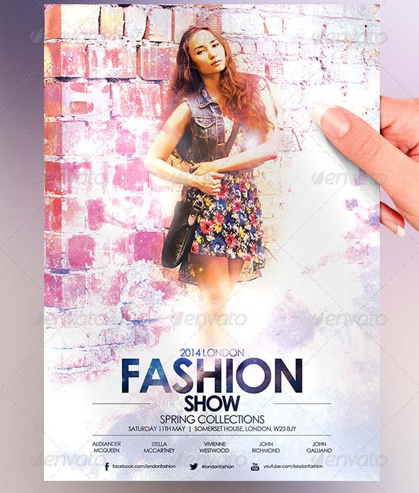 16 psd flyers for fashion show promo desiznworld for Fashion flyers templates for free