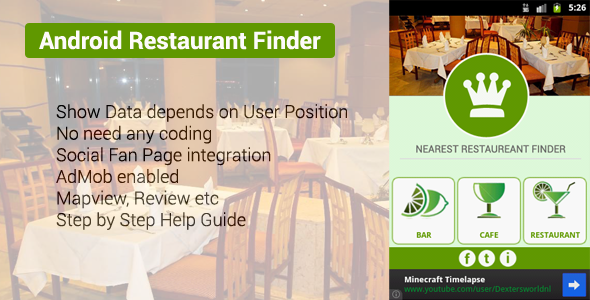 Android Nearest Restaurant Finder App