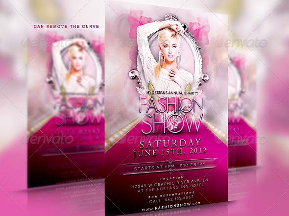 PSD Flyers For Fashion Show Promo Desiznworld - Fashion show flyer template