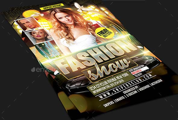 Fashion Show Flyer gold