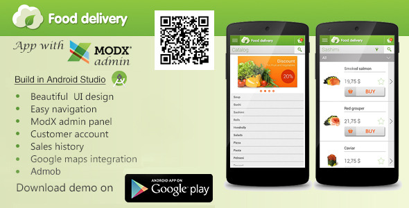 Food Delivery App with MODx CMS