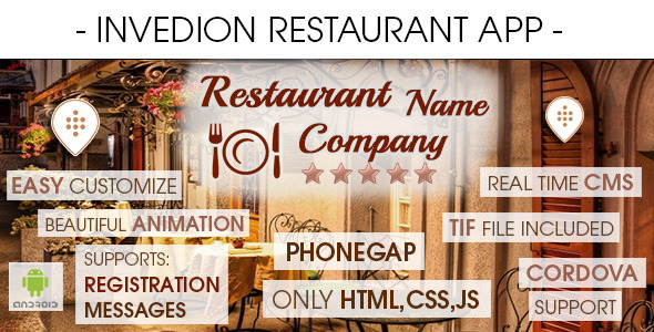 Restaurant App With CMS Android