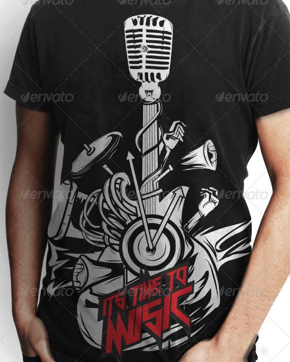 T-Shirt Design Music