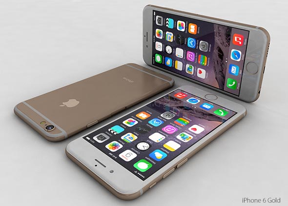 iPhone 6 and 6 Plus 3d model