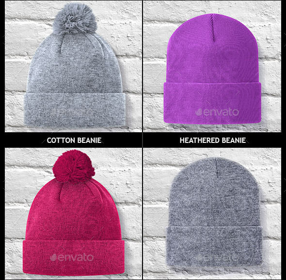 Beanies Pack Mock Up