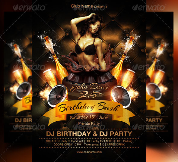 34 cool birthday flyer psds desiznworld