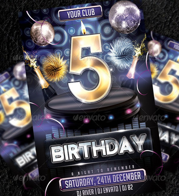 Birthday Flyer Template Vol4