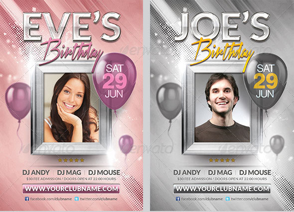 Birthday Flyer Template party